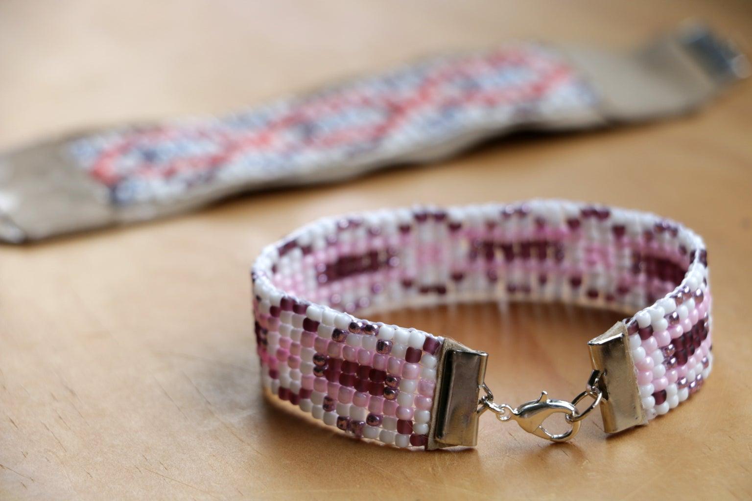 Simple Bead Weaving Loom & Bracelet