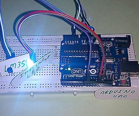 Temperature Indicator Using LM35