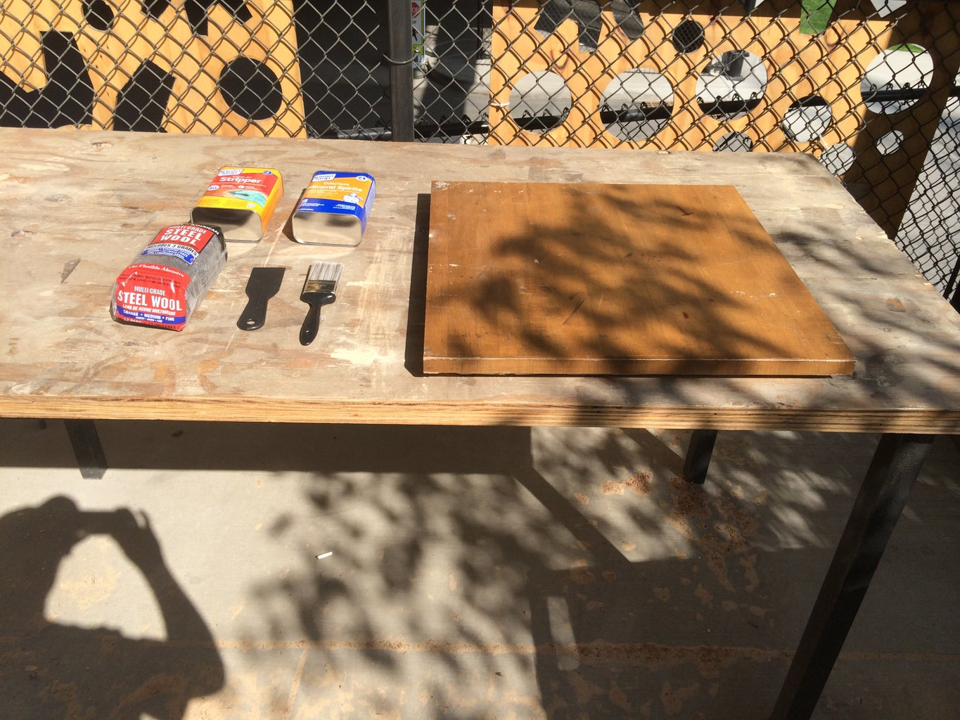 Table Top - Removing Old Polyurethane