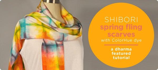 Shibori Spring Fling Scarves With ColorHue Dye