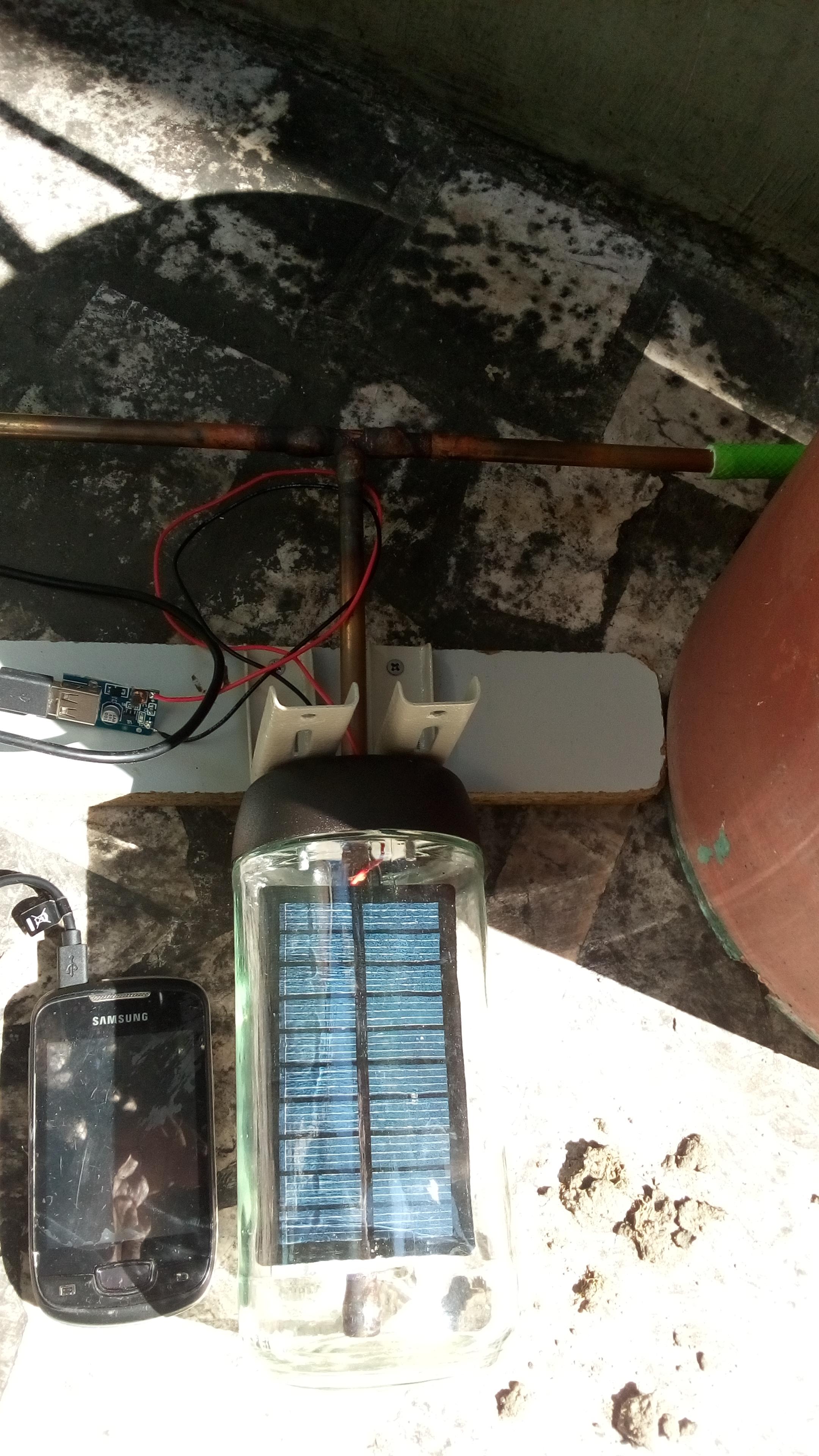 Hybrid Solar Power-Heater DIY