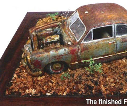 old 1949 ford Tudor coupe rusted model