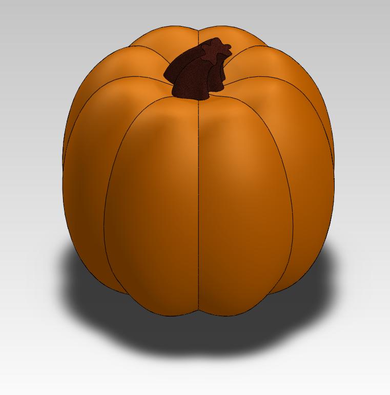 Solid Model of a Pumpkin