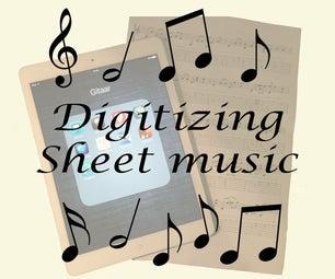 Digitizing Sheet Music for Ipad