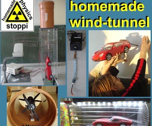 DIY Wind Tunnel and Visualized Airstreams for the Physics Lesson