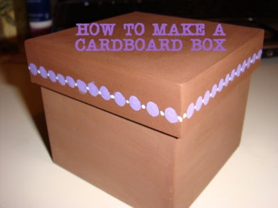 How to Make a Cardboard Box From Recycled Cardboard