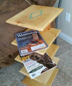 Magazine Stand From Salvaged Wood