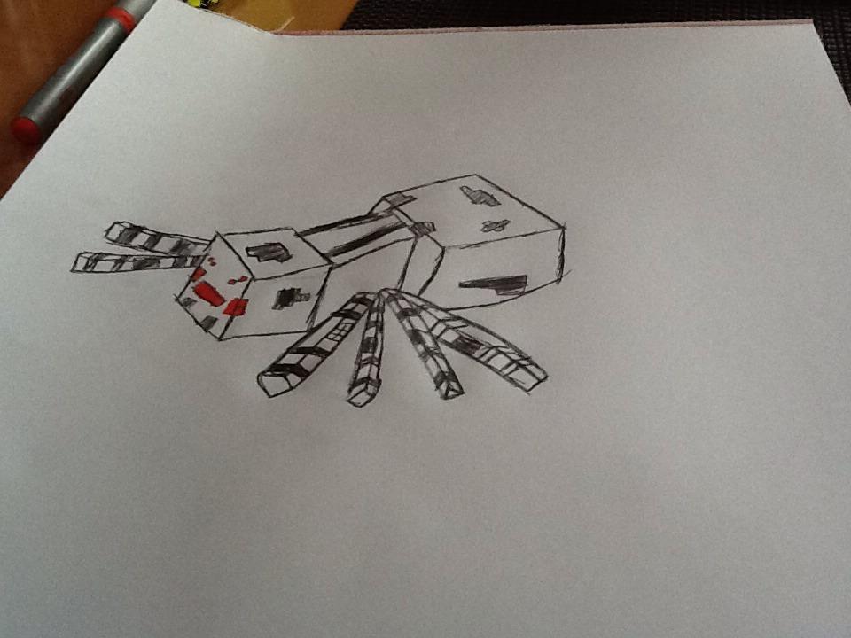How To Draw Minecraft Spider - A Minecraft Series