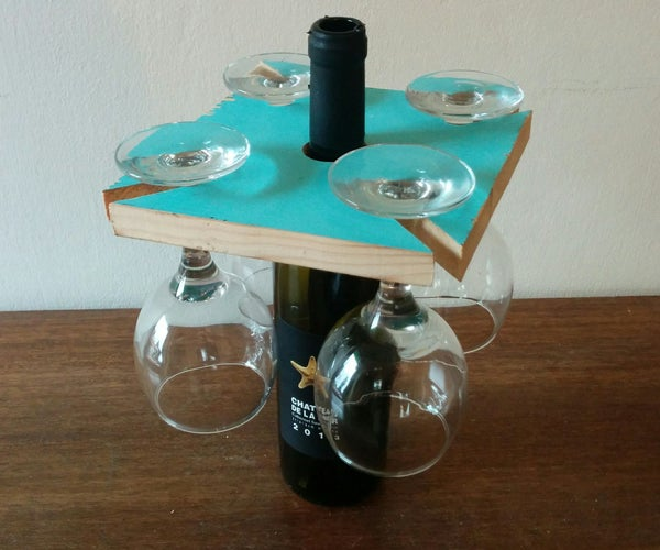 Glasses Rack on Wine Bottle