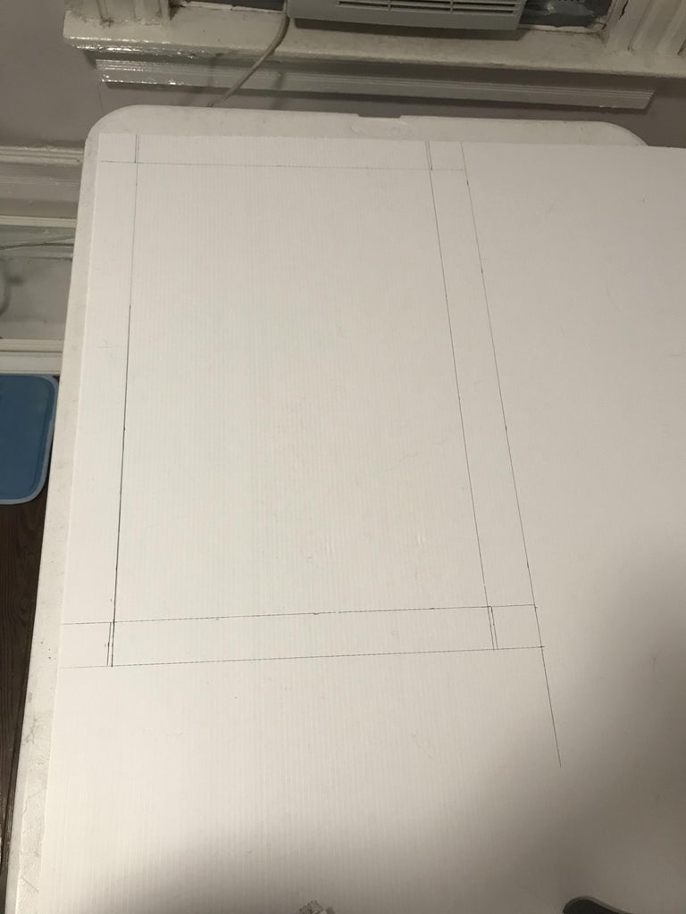 Step 2: Draw Out Lines on Coroplast