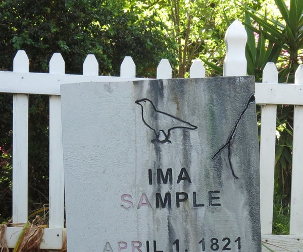 CNC Routed Tombstones