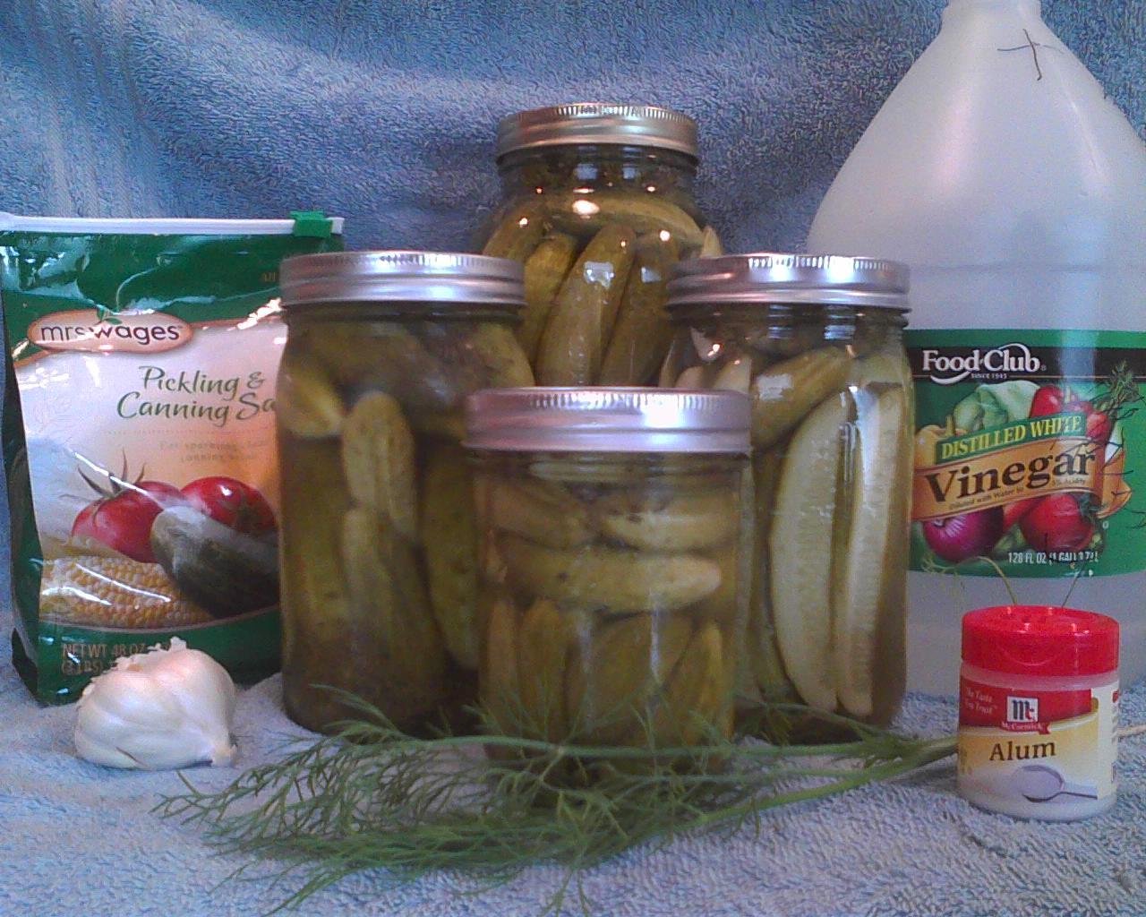 Grandma's Homemade Dill Pickles