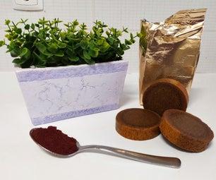 水合物和去角质咖啡肥皂:冷工艺