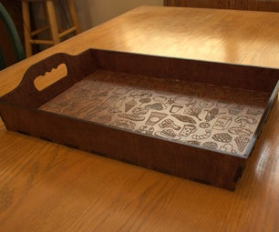 Laser Cut Plywood Serving Tray