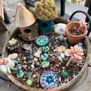 Tiny Mosaic Stepping Stones for Gnome or Fairy Garden