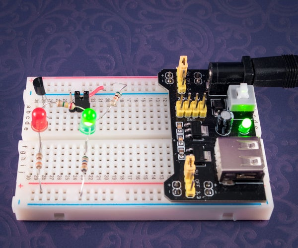 Sensor Controlled RED and GREEN LEDs
