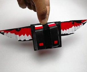 Foldable Falcon Wings From Cardboard