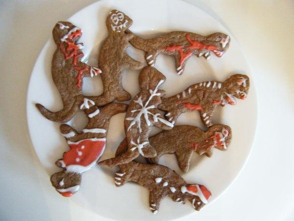 Gingerbreadsaurous Rex Cookie