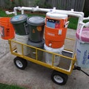 Cub Scout Camp bucket transport wagon