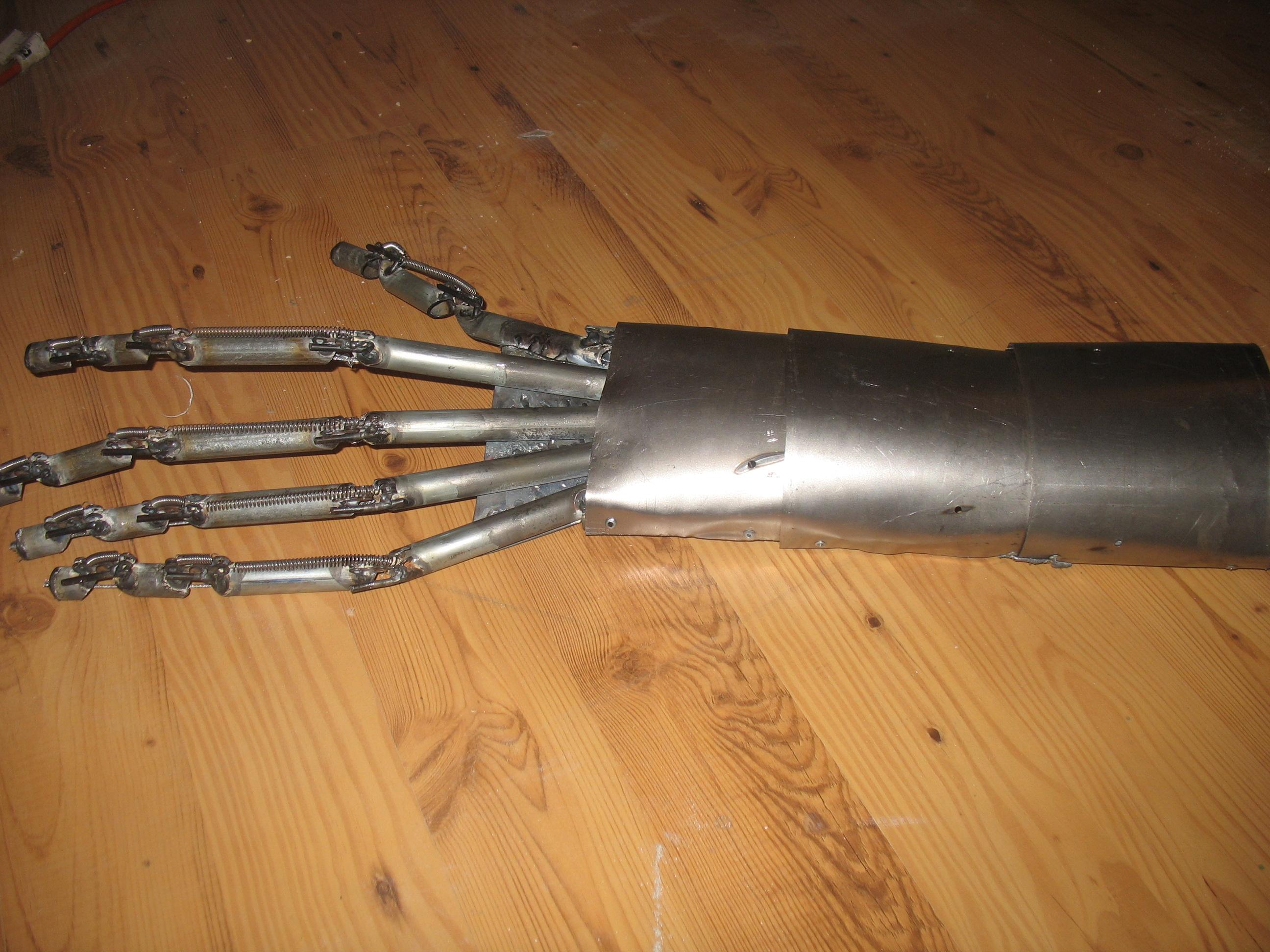 Giant Metal Animatronic Cyborg Hand of DOOM!