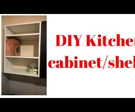 DIY Small Kitchen Cabinet/shelf Made of Plywood