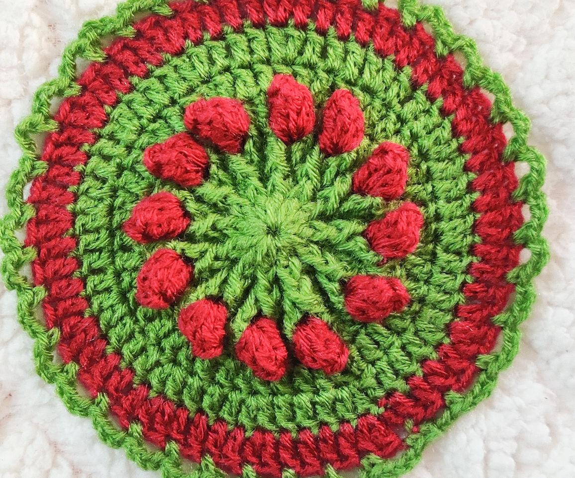 Easy to Make Rosebud Spring Flower Coaster