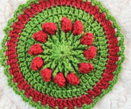 Easy to Make Rosebud Spring Flower Coaster