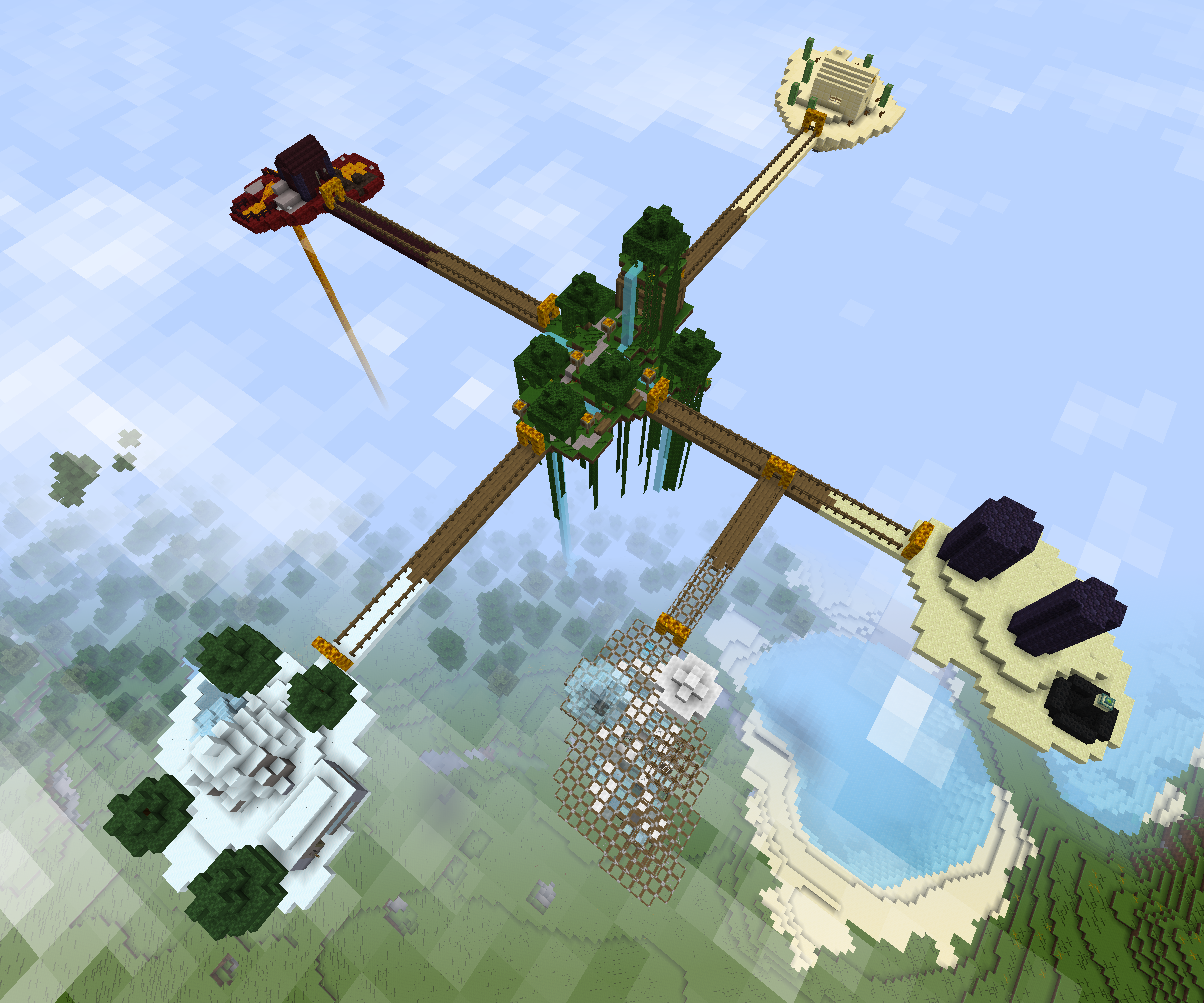 floating islands in minecraft