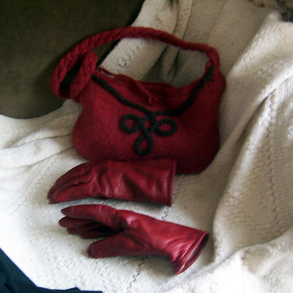 Celtic Knit Handbag