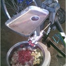 Mountain bike meat grinder.