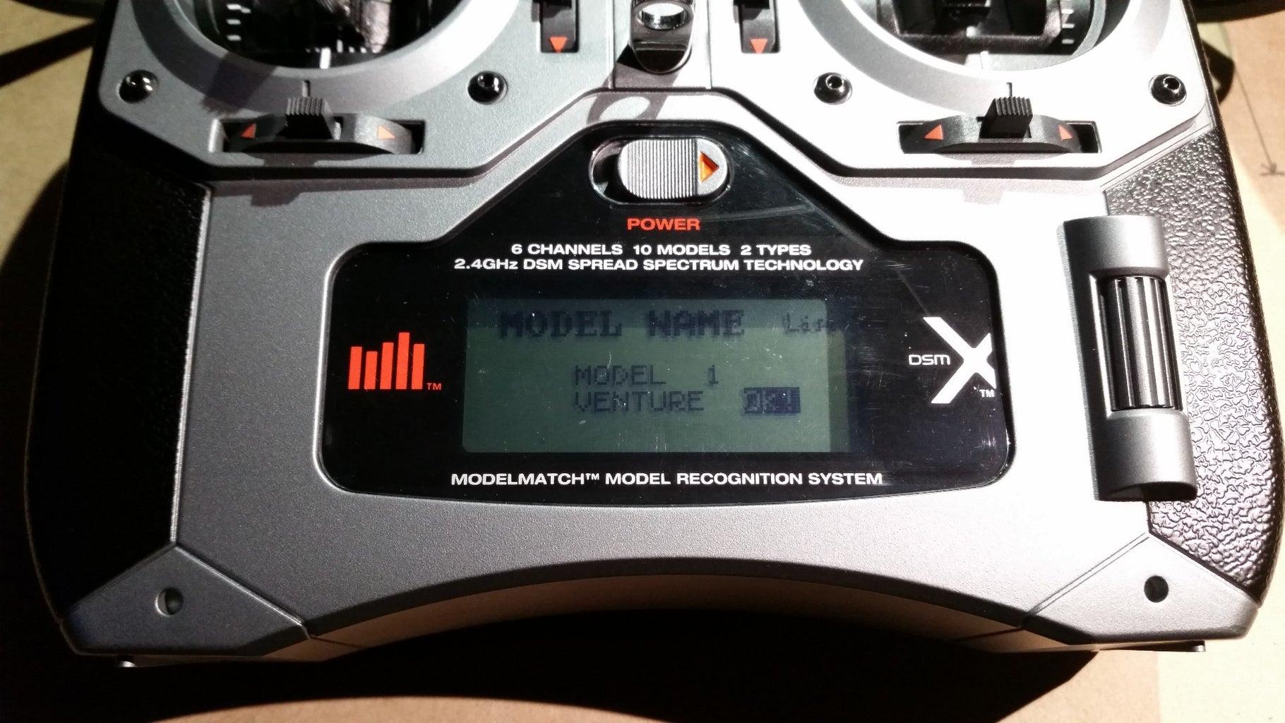 Set the Model in the Spektrum DX6i