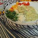 Tomatillo, Cilantro, Mexican Crema Chicken Thighs