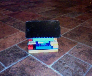Adjustable Lego Ipod Stand