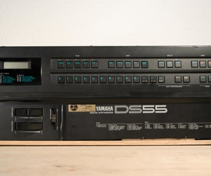 戏剧性的Yamaha DS-55键盘合成模块转换