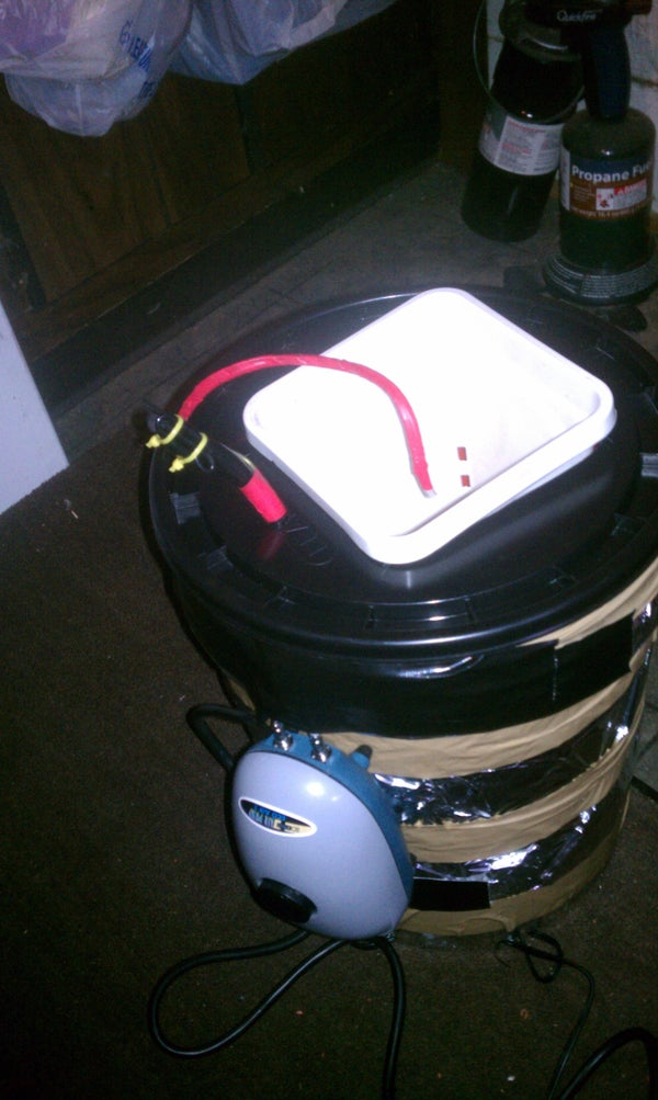 Hydroponic Ebb and Flow Single Bucket System