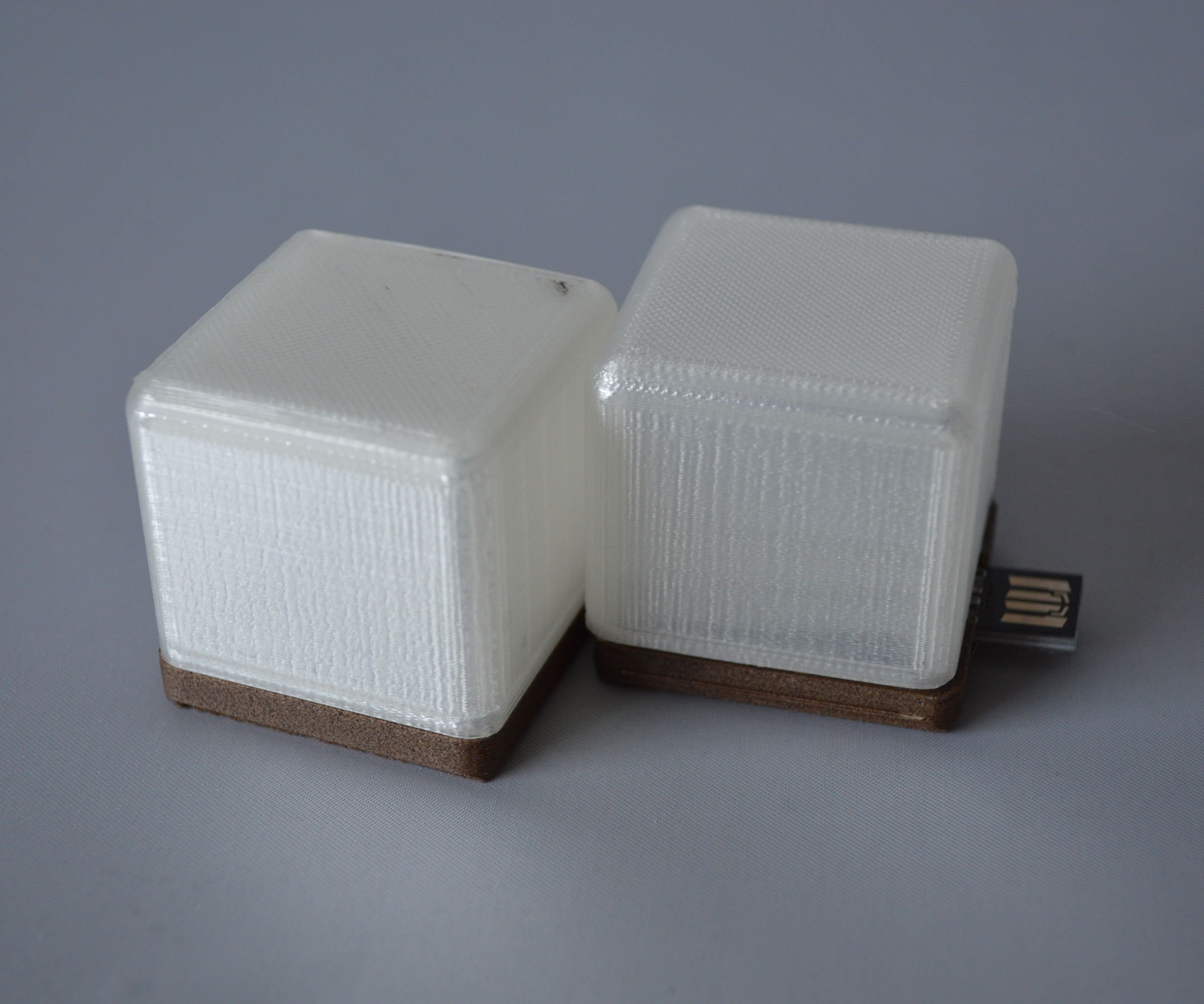 3D Printed USB Light Cubes