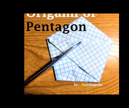 Origami of Pentagon for Dodecahedron