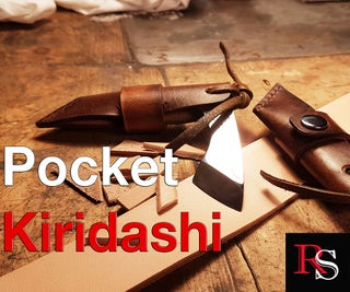 Making a Japanese Pocket Kiridashi With Leather Sheath (which Is Also a Handle)