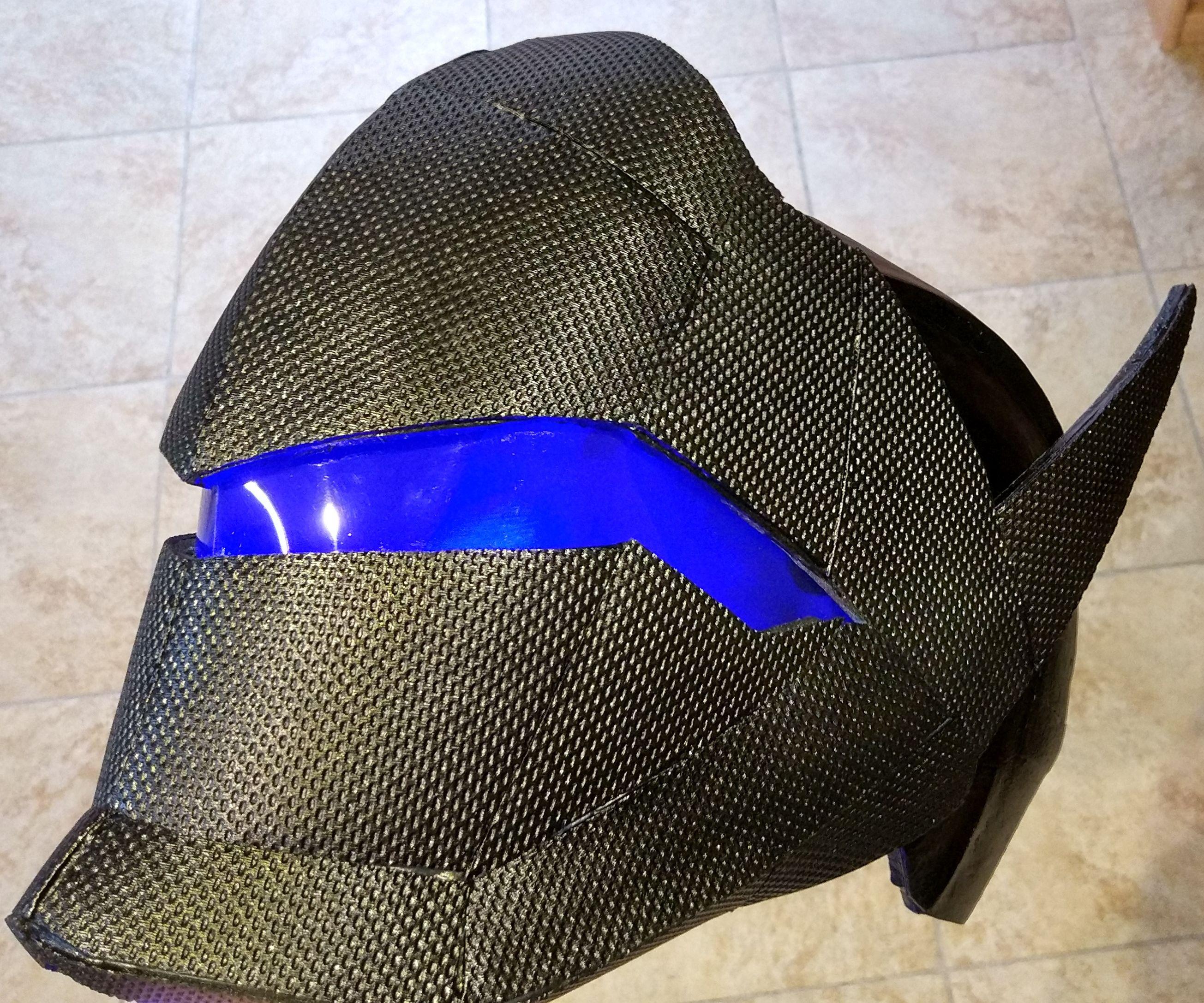 Genji's Helmet (Carbon Fiber Skin) EN/FR Casque De Genji Overwatch
