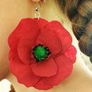 Hot Glue Poppy Earrings