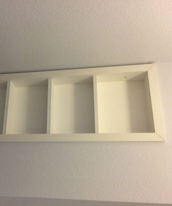 Built-in Shelves Between the Studs