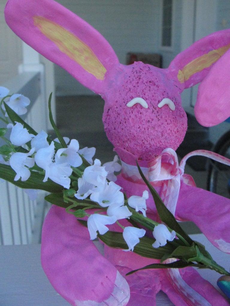 Sugru Bunny Flower/paintbrush Holder