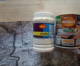 Image Transfer Onto Wood Map Using Gel Medium.