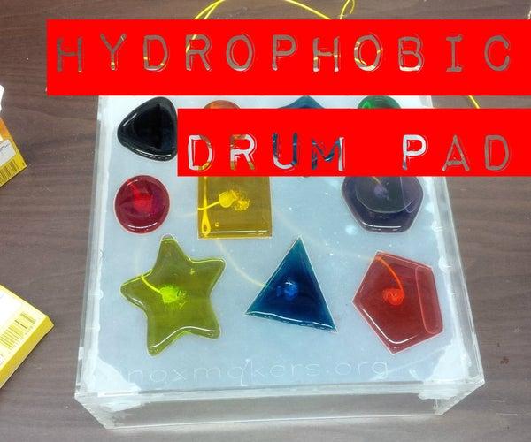 Hydrophobic Drumpad, for MaKey MaKey
