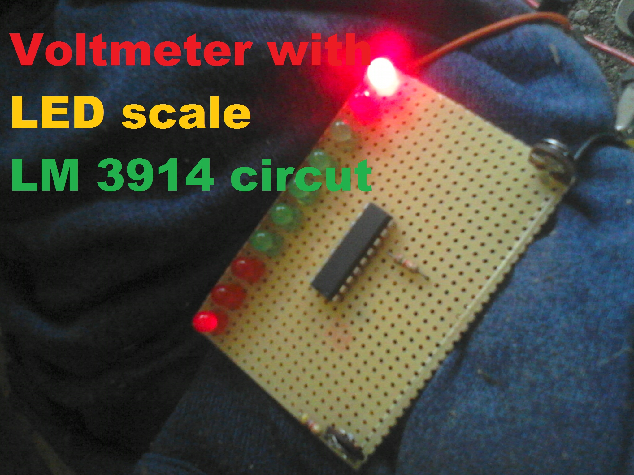 Voltmeter with LED scale  LM 3914 circut