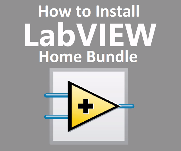 How to Install LabVIEW Home Bundle