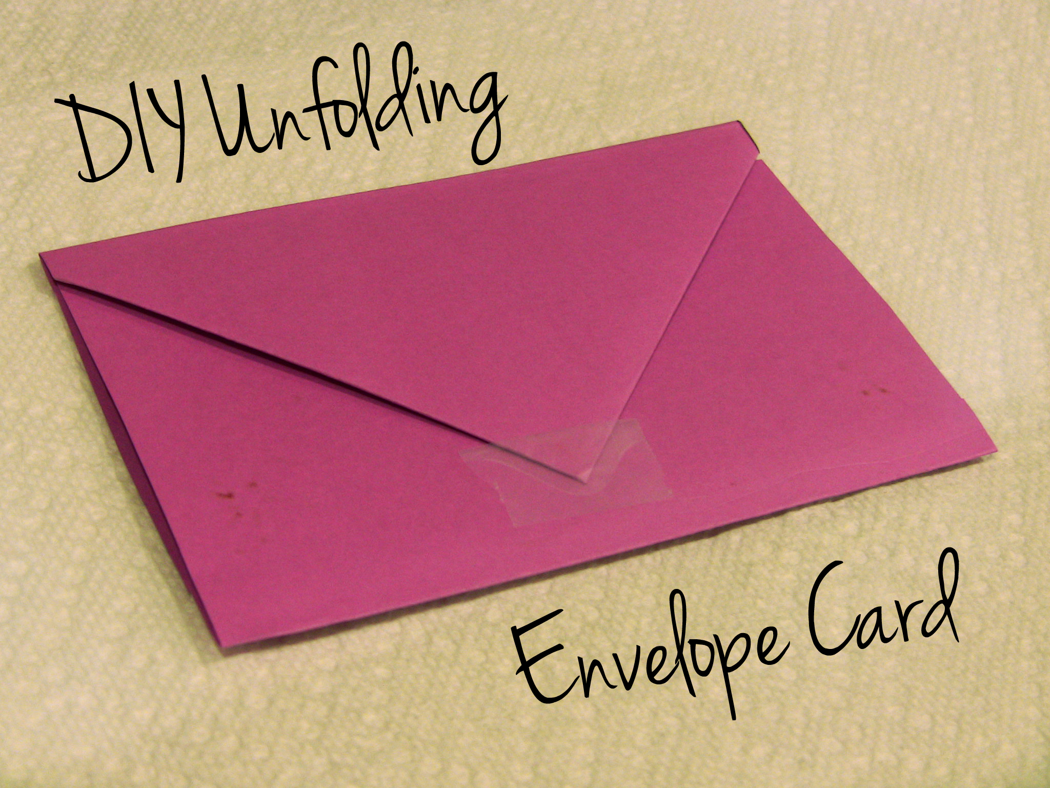 V-Day Unfolding Envelope Card
