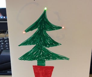 Festive Electronic Greeting Cards Using Conductive Paint