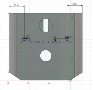 Design Process - Moving Fixture - Screw Reinforcement Hole