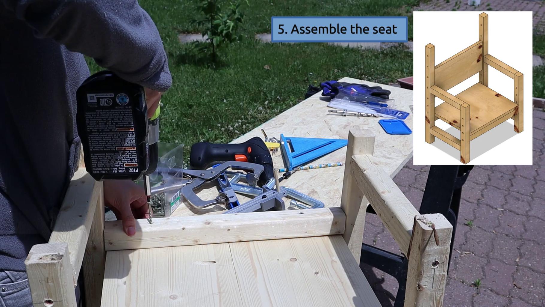 Assemble the Seat (no Padding)
